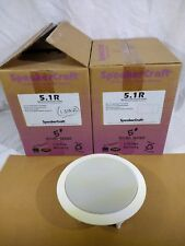 SpeakerCraft 5.1R Round In-Ceiling Speakers White New In Box Group of 3