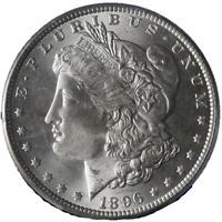1896-P Morgan Silver Dollar PCGS MS65 Blazing White Gem Nice Strike STOCK