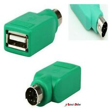 PS/2 Male to USB Female Keyboard Mouse Adapter-For Cable Lead-PS2 6 Pin Mini DIN