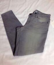Style & co. New Women's 8 Denim Skinny Jeans Low Rise Grey Wash Castle Grey NWT