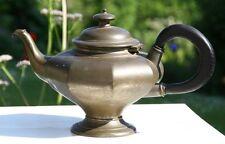 Antik bauchige englische Zinnkanne Teekanne Roadhead Kanne Zinn