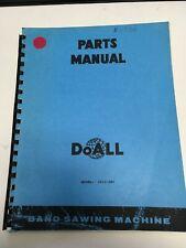 Doall 2012 2h3 Band Sawing Machine Parts Manual