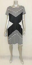 RONNI NICOLE Gray Colorblock Short Sleeve Stretch Pull-Over Sheath Dress sz XL
