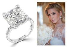 7.2 TCW Cushion Cut Solitaire Pave Set CZ Engagement Wedding Bridal Ring Size 6