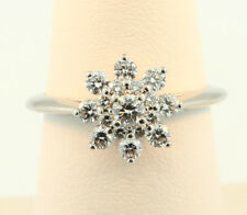Tiffany & Co. Flower Diamond Ring in Platinum Size 6.5 Retail $5,335 w Tax