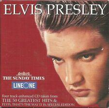 ELVIS PRESLEY - 4 TRACK + VIDEO - TIMES PROMO MUSIC CD