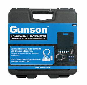 SALE PRICE Common Rail Flow Meter & 24pc Adaptor Set 77055 by Gunson