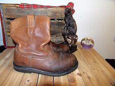 RED WING WORX BOOT BROWN SIZE 12 WW STEEL TOE BOOTS 12 WW RED WING BOOTS 12 WW