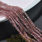 100pcs 3mm Cube Square Faceted Crystal Glass Loose Spacer Beads Fuchsia