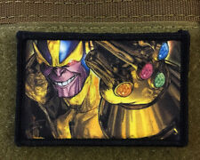 Thanos Infinity Gauntlet Morale Patch Marvel Tactical Military Army Badge Flag