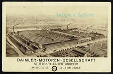 1920 Daimler Car Factory Daimler Motoren Gesellschaft Mercedes Postcard C183