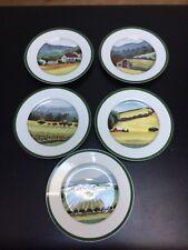"Set 5 William Sonoma SONOMA COUNTY 8.25"" Salad Desert Luncheon Plates"