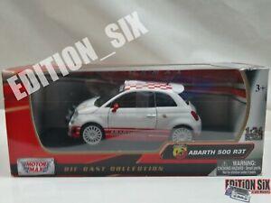 MotorMax 1:24 FIAT ABARTH 500 R3T replica model car new boxed