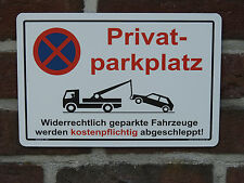 Privat Parkplatz Schild Parkverbot Parken Verboten Bauschild HALTEVERBOT 5091A
