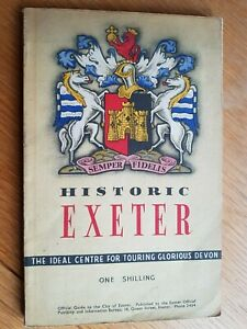 EXETER Guide Book - Historic Exeter - 1953/54 - 1950's Devon Local History
