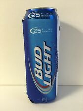 Bud Light 24 / 25 oz Beer Cooler Koozie Fits Extra Ounce Cans  NEOPRENE  NEW F/S