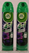 2 Can AIR WICK COOL NIGHT RAIN 4 IN 1 Air Fresheners Room Spray