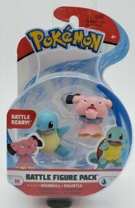 Pokemon Battle Figure Set SNUBBULL + SQUIRTLE  *BRAND NEW*