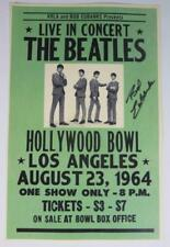"Bob Eubanks THE BEATLES Signed Autograph ""Live Hollywood Bowl 1964"" 11x17 Poster"