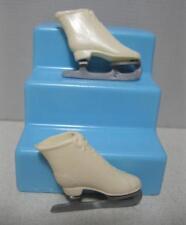 Vintage 1960s Barbie Doll Shoes-white classic Ice Skates Japan