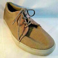 Reef Ridge Mens Sneaker Shoes Size 10 Grey Gray Canvas Low Top