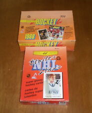 1988-89 OPC HOCKEY MINI STAR CARDS BOX & 1988 OPC UNOPENED YEARBOOK STICKERS BOX