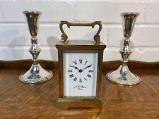 J W Benson Brass Cased Carriage Clock, Serviced.