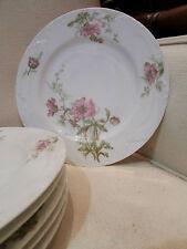 6 anciennes assiettes en porcelaine de limoges D&C decor floral