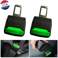 2x Noctilucence Green Safety Seat Belt Buckle Extension Extender Clip Universal