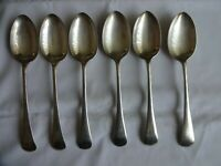 6 x Vintage Old English Silver Plated Large Spoons Atkin Bros. Sheffield 21.5 cm