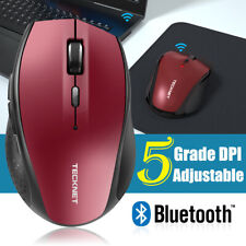 TeckNet Bluetooth Wireless Mouse, 3000 DPI Cordless Optical Mice for Laptop PC