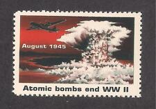 """ATOMIC BOMB ENDS WWII - U.S. POSTAGE """"STAMP"""" - RESCINDED BY USPS - ENOLA GAY"""