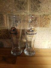 2X Benediktiner Beer Glass Half Pint
