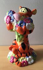 Collectible Disney Winnie The Pooh Tigger Flowers Ceramic Coin Bank Antique