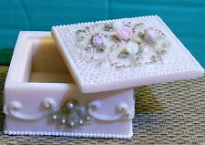 """Polymer Pink Trinket Box Roses Siting On Top 3-1/4"""" Square"""