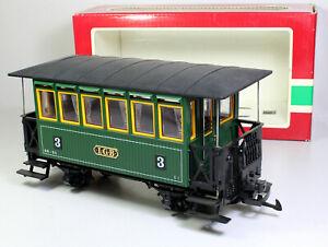 Spur G LGB 3040 grüner Personenwagen 3.Kl. mit Inneneinrichtung OVP