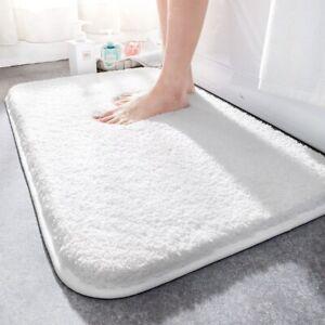 Super Thick Fluff Fiber Bath Mats Comfortable and Soft Bathroom Non-slip Carpet