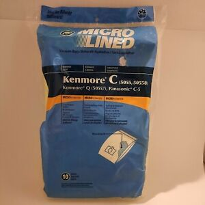 10 DVC C Bags Sears Kenmore Vacuum Cleaner Bags 5055 50557 50558 C Q Canister