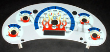 98-02 Chevy S10 Blazer White Face Flamed Glow Gauges