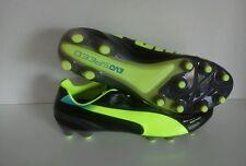 New Puma Evospeed 1.2 FG Black Neon Yellow Soccer Cleats Sz 13