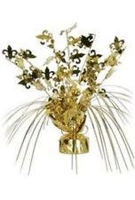 Mardi Gras Gold Fleur De Lis Cascade Centerpiece Decor