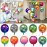 "22""Round Foil Balloon 4D Rainbow Gradient Disco Wedding Birthday Party Decor New"