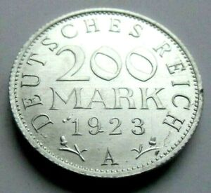 (855)WEIMAR REPUBLIC  -  200 MARK  -  1923 A