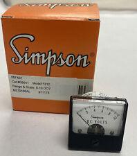Simpson 09541 Panel Meter Nos