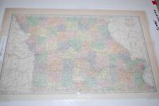 MISSOURI MAP, 2 PARTS, SEARS ROEBUCK LOOSE LEAF ATLAS, S. HAMMOND & CO., 1919