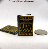DRAWINGS BY AUBREY BEARDSLEY Miniature Dollhouse 1:12 Scale Illustrated Book