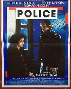 Poster Police Gerard Depardieu Sophie Marceau Anconina Maurice Pialat