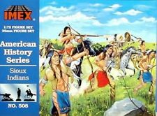 Imex 1/72nd Western Sioux Indians Plastic Figures Set No. 508 New In Box!