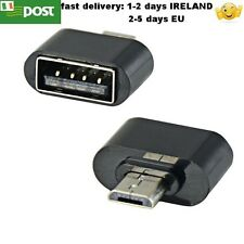 Micro USB Male to USB Female OTG Charger Adapter Converter for Samsung HTC black