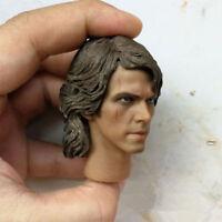 "1/6 Custom Man Head Anakin Skywalker Sculpt Toy PVC Carving Model Fit 12"" Figure"
